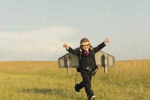 Pojke som vill flyga